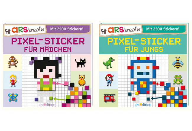 Pixel-Sticker-Bücher